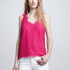 Authentic Joie pink lace top